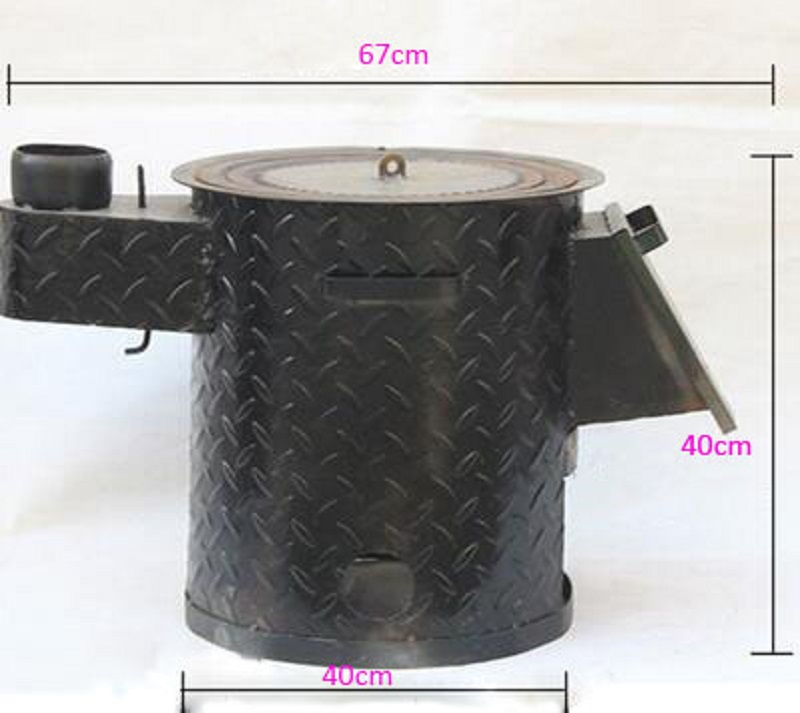 2019 Newest Outdoor Camping Wood Stove Multi-functional One-piece Barbecue Camping Stove