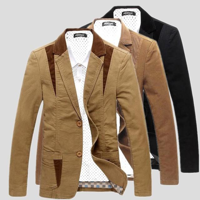 Primavera Otoño hombres leisure suit algodón delgado joven diseño del juego de los hombres outwear la capa delgada de los hombres de la chaqueta blazer hombres