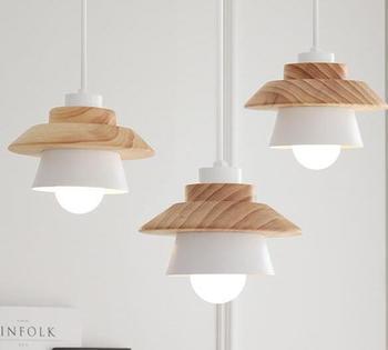 Kolye lamba bahçe yaratıcı restoran ahşap yatak odası oturma odası kolye demir LED MZ22