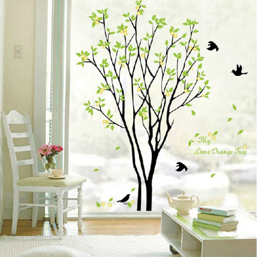 Removable huge birds sing on the tree wall stickers home living removable huge birds sing on the tree wall stickers home living room kids room decorations decals in wall stickers from home garden on aliexpress amipublicfo Image collections