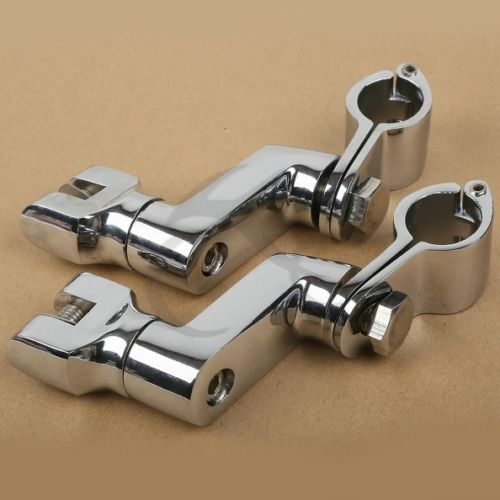 Universal Front Foot Pegs Clamps For Honda GL1800 01-12 Harley Sportster 1200 94-97 Kawasaki Ninja 250R 500R 600R 650R 750R
