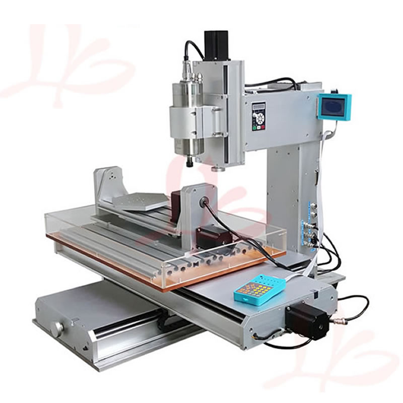 5 Axis CNC Router Engraver 6040 1.5KW 2.2KW Water Cooled Spindle Motor CNC Milling Machine with Water Sink mach3 cnc milling machine 6040 4axis wood router with 800w water cooling spindle ball screw rotary axis