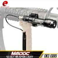 要素エアガンm600c戦術sf武器懐中電灯フルバージョンled戦術的なライフルライトリモート圧力20ミリメートルレールマウントEX072