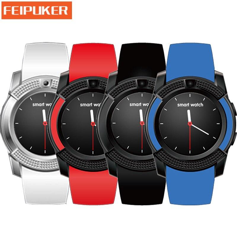 wearable devices Bluetooth Smart Watch V8 TF SIM Card HD Circular Screen Smart WristWatch Phone Watch