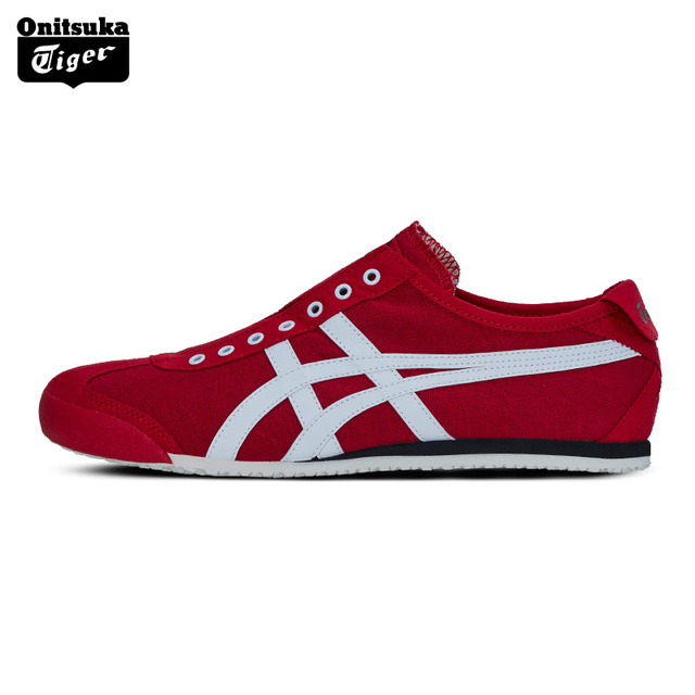 Onitsuka Tiger MEXICO 66 Outdoor Men's Shoes Slip-on Unisex Shoes  Breathable Lightweight Women Sneakers