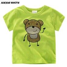 Cartoon Bear T Shirt Boys 2017 Summer Children's Clothes Kids Baby Short Sleeve Cotton Tops Boy T-shirt Tees Clothes 2-7Y