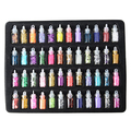 48 Colors Glass-bottled Colorful Shiny Beads Sequins Nail Art Decoration Set