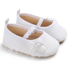 Baby Girls Shoes Knit Bow Tight Baby Shoes Non-slip Breathab