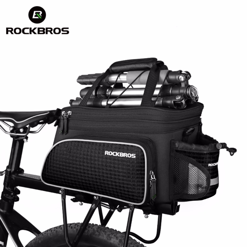 Rockbros Large Capacity Bicycle Camera Bag Rainproof Cycling MTB Mountain Road Bike Rear Seat Travel Rack Bag Bag Accessories wheel up bicycle rear seat trunk bag full waterproof big capacity 27l mtb road bike rear bag tail seat panniers cycling touring
