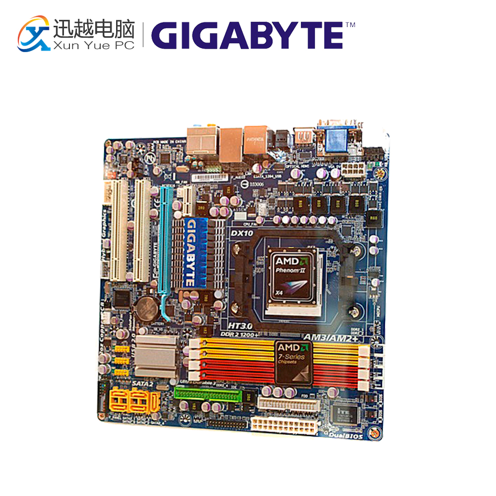 Gigabyte GA-MA785GPM-UD2H Desktop Motherboard MA785GPM-UD2H 785G Socket AM2 DDR2 SATA2 USB2.0 Micro ATX for gigabyte ga ma78g ds3hp original used desktop motherboard for amd 780g socket am2 for ddr2 sata2 usb2 0 atx