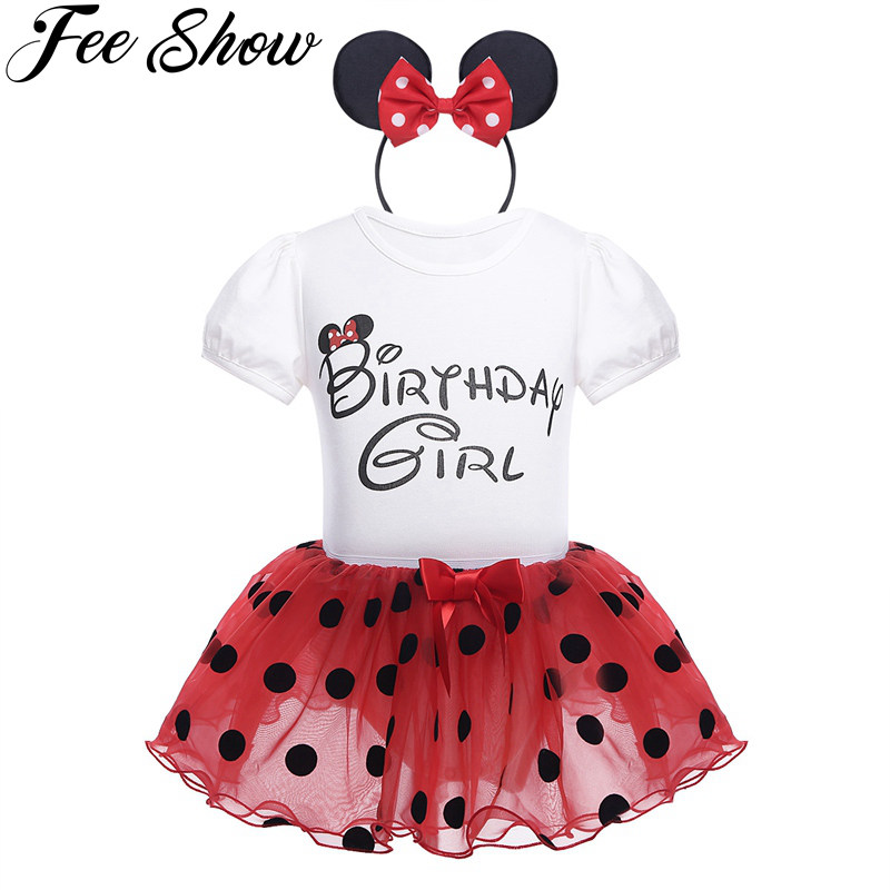 New 3Pcs Baby Girls Dress Dot Dresses Princess Girl Clothing Red Pink Round Neck Xmas short Sleeve Party Clothes My 1st Birthday new baby girl clothing sets lace tutu romper dress jumpersuit headband 2pcs set bebes infant 1st birthday superman costumes 0 2t