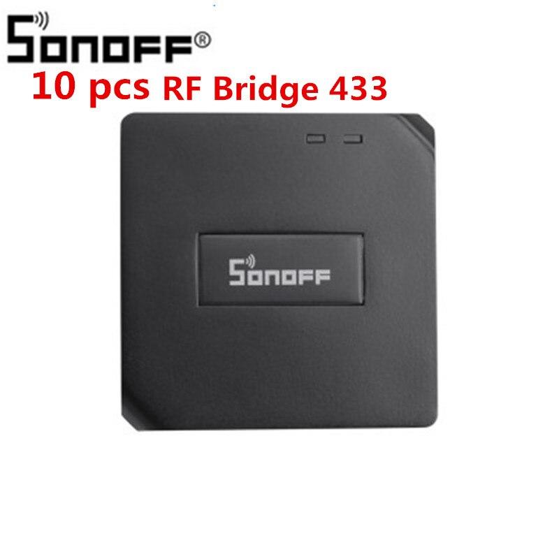 החלפת 10 pcs Sonoff RF גשר 433 חכם בית אוטומציה מודול Wifi מתג אוניברסלי טיימר DIY 433 Mhz מרחוק בקר