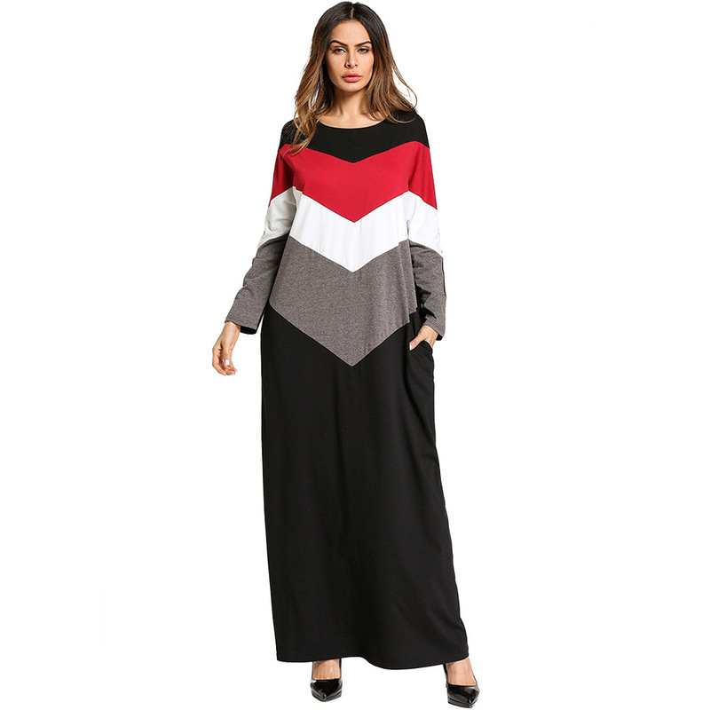 2018 Kaftan Beach Dress Tunic Robe Cardigan Cape Women's Beachwear 2019 Women Skirt Color Stripe Patchwork Cotton Sierra Surfer