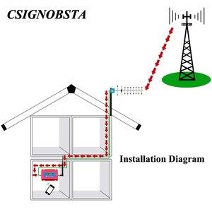 Image 2 - Vente chaude téléphone portable GSM répéteur pour amplificateur cellulaire 2G GSM900 MHz Signal Booster avec antenne Yagi en gros 2019