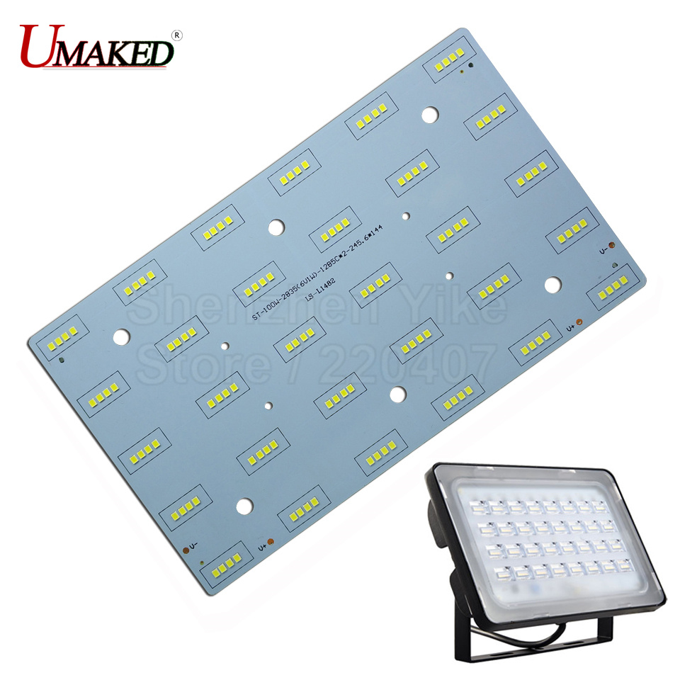 100% Full Power 200W led Floodlight PCB with SMD2835 led pcb board,50W 100W 150W Aluminum plate base for LED floodlight 2 pieces 220v directly 30w 50w 100w integrated ic led pcb smd 5730 aluminum base plate no need driver for floodlight free