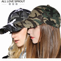 2016  cotton camouflage baseball cap fashion Korean version of the tide male and female models hat tongue bone wholesale