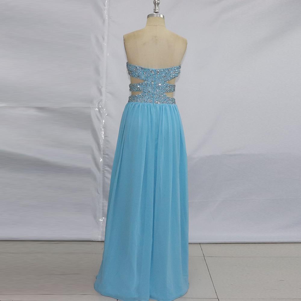 Vestidos de Gala Formatura Sky Blue Prom Dresses 2017 Long Elegant ...