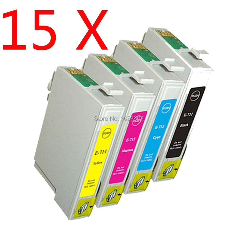 15x T0711 T0891 T0714 XL Kompatibel Tinten für Stylus DX7400 DX7450 DX8400...