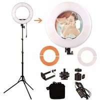 18 LED Video Ring Light 6ft Stand Tripod Adjustable Heavy Duty Mount for DSLR, iPhone Smartphones for Make Up,Youtube Video