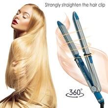 Cheapest prices Tourmaline Ceramic Hair Straightener Professional Straightening Iron Titanium-Plated Flat Irons Hair Straightener and Hair Curle