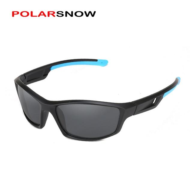 6b6b4b69c627 POLARSNOW Men Sports Sunglasses Polarized Lens Reduce Glare Male Goggles  Sun Glasses UV400 2018 Oculos Masculino P8866