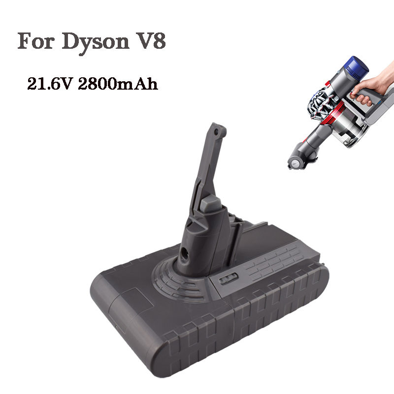 Power Tool Replacement Battery 21.6V 2800mAh Rechargable Li-ion Battery for Dyson V8 Vacuum Cleaner Rechargeable Battery high quality 21 6v 3000mah rechargable li ion battery for dyson v8 vacuum cleaner