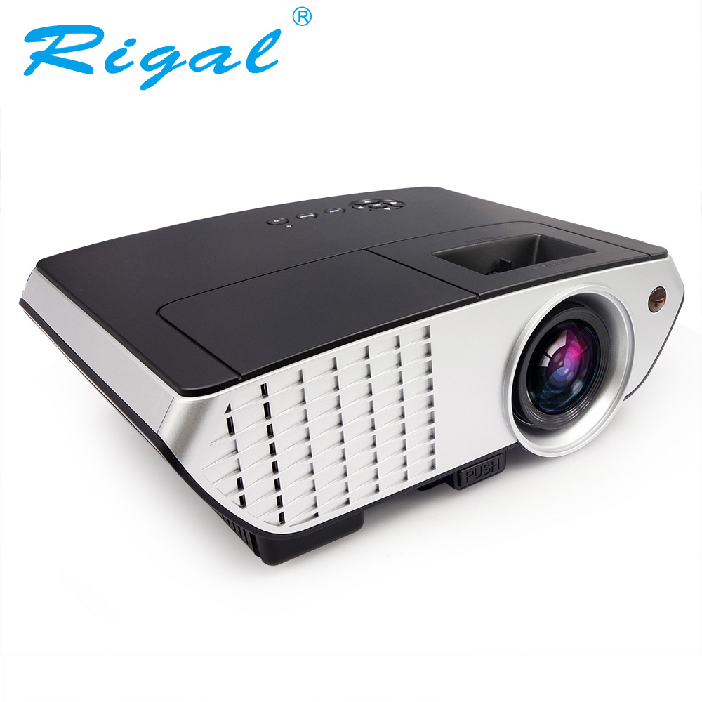 Rigal RD803W Android 4.4 WIFI Airplay Miracast Projector 2000 lumens Home Theater Proyector HD with HDMI VGA USB AV Mini Beamer lvpai fashion brand women watch rhinestone gold full steel quartz wristwatch girl lady women dress gift luxury fashion watches