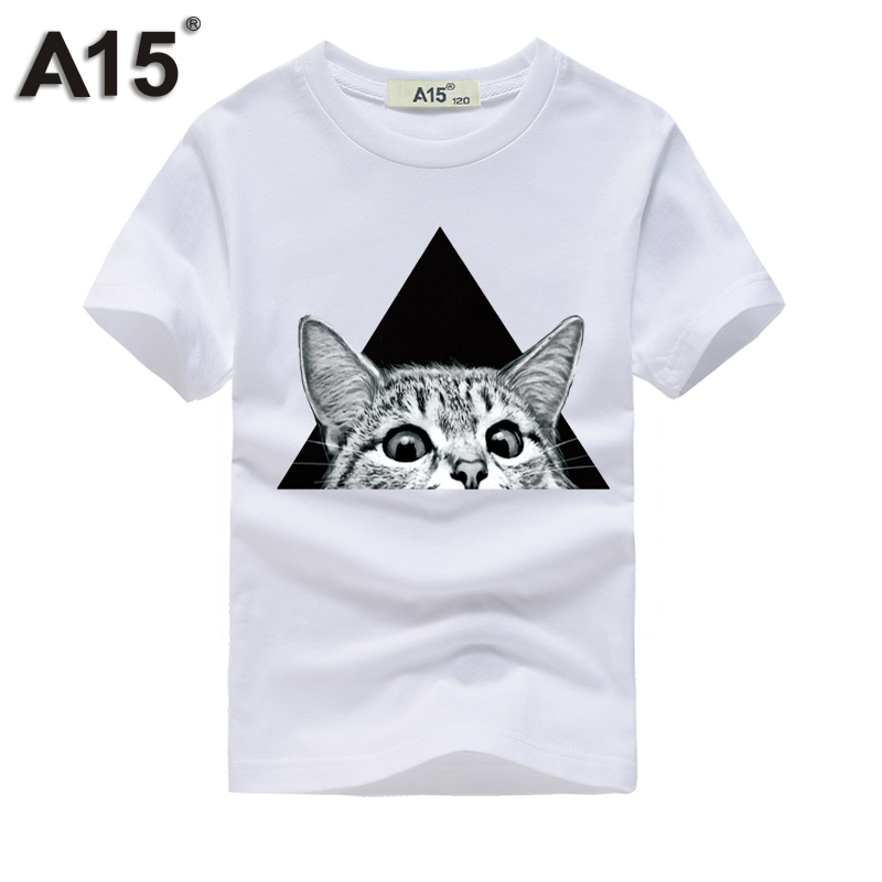 A15 Boy T Shirt Summer Kids 2018 Full Sleeve 3D T-shirt For Girls Top Tees Cotton T Shirts For Summer Teens Tees 6 8 10 12 Year(China)