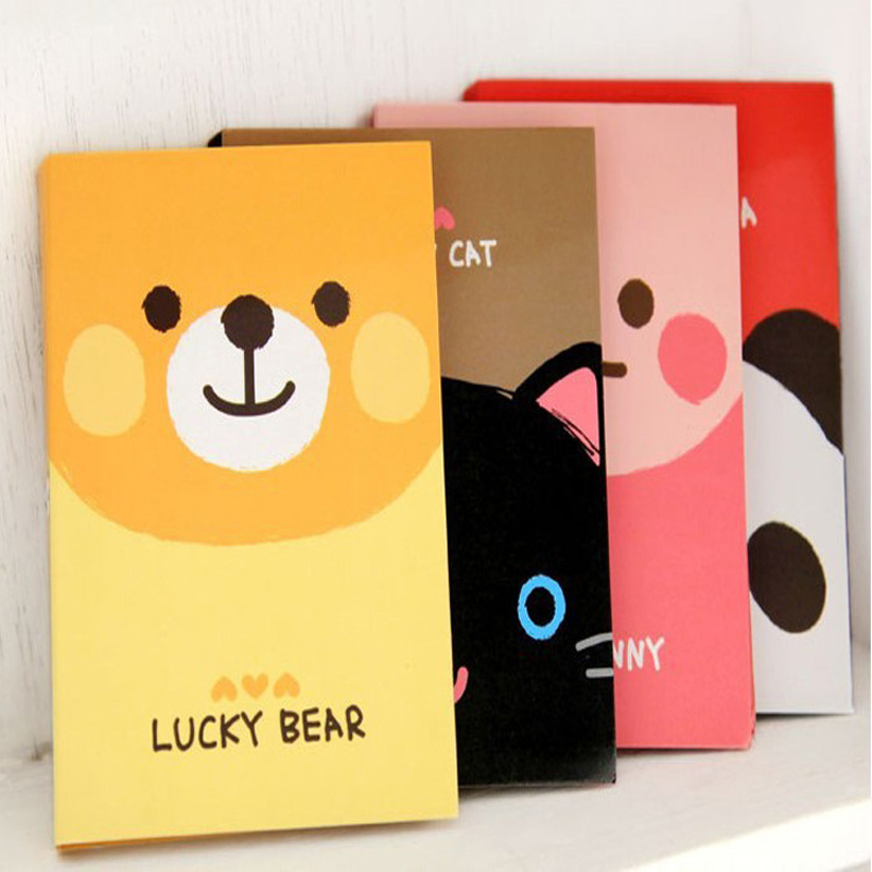 4pcs/lot 10.5*8.2cm Creative Cute Cartoon Small Animal Notes Book Office Notes Posted N Times Posted Stickers
