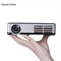 Mini HD 3D Projector WiFi Android 4.4 DLP 1080P Digital home theather tv Active Shutter proyector for PC laptop TV