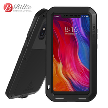 LOVE MEI Aluminum Metal Case For Xiaomi 8 Mi8 M8 Cover Powerful Armor Shockproof Life Waterproof Mi Capa Funda