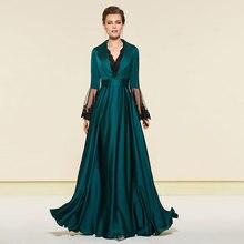 цены на Tanpell long sleeves evening dress v neck lace zipper-up floor length a line gown women custom formal long evening dresses 2019  в интернет-магазинах
