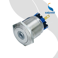 IP67 Resetable Type Stainless Steel Push Button Switch / Metal Enclosed Switchgear with Dot Illuminated LED (SP22 A2)