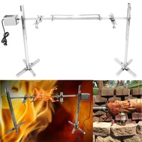 Large Grill Rotisserie Spit Roaster Rod Charcoal BBQ Pig Chicken 15W Motor