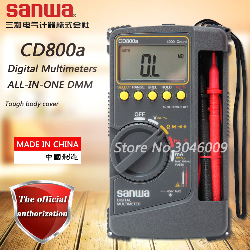 Sanwa CD800a digital multimeter / ALL-IN-ONE digital multimeter resistance, capacitance, frequency, duty cycle test my68 handheld auto range digital multimeter dmm w capacitance frequency