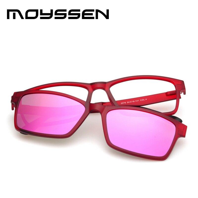 ead87fa889fef Moyssen 2 em 1 High end Motorista Óculos De Sol Espelho Lente Miopia  Armação De Titânio + Ímã de Plástico Clipe Set Prescrição óculos em Óculos  de sol de ...