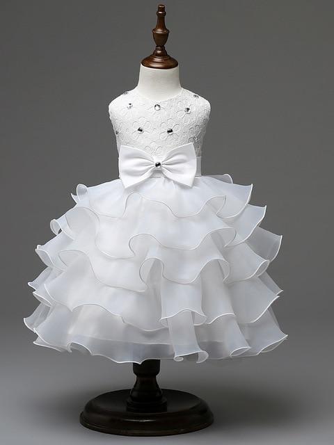 Fashion layered cupcake rhinestone baby girl christening dress