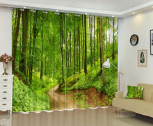 3D Forest Trail Window Curtain For Living Room Make Your Family Living In The Forest(China)