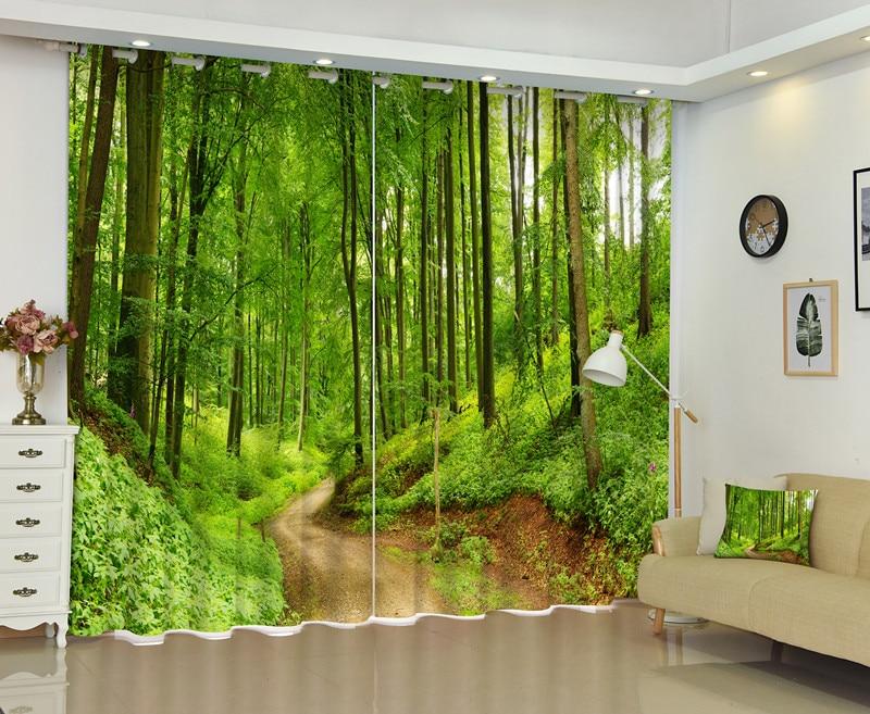3D Foresta Trail Tenda Della Finestra Per Soggiorno Fai La Tua Famiglia Vive Nella Foresta-in Tende da Casa e giardino su  Gruppo 1