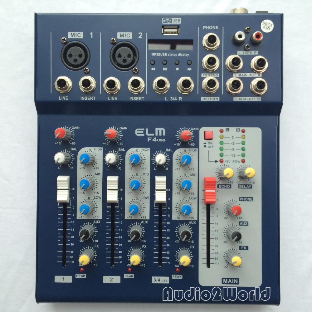 Prix pour Mini Audio Mélangeur F4 Petite Console De Mixage 4 Canaux