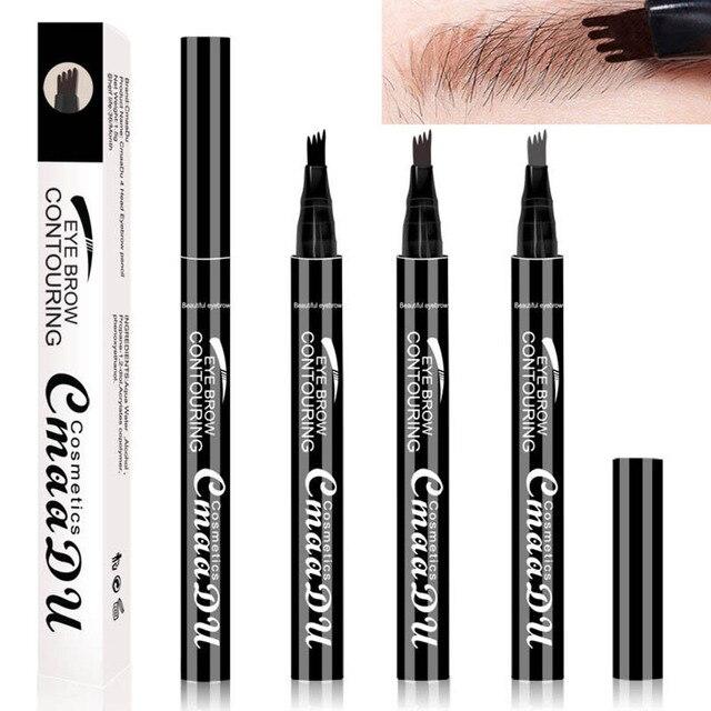 1 PC Microblading Tattoo Eyebrow Pencil Waterproof Fork Tip Eyebrow Liquid Eyebrow Pen Shades Eye Pencil Charm Makeup Cosmetics
