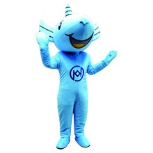 Free shipping!High quality adult size carnival blue mouse mascot costume fashion show props