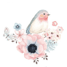 Bird Patch For Clothes DIY Flower Patches A-level Washable Iron Appliques For Clothing 19*19cm Heat Transfer