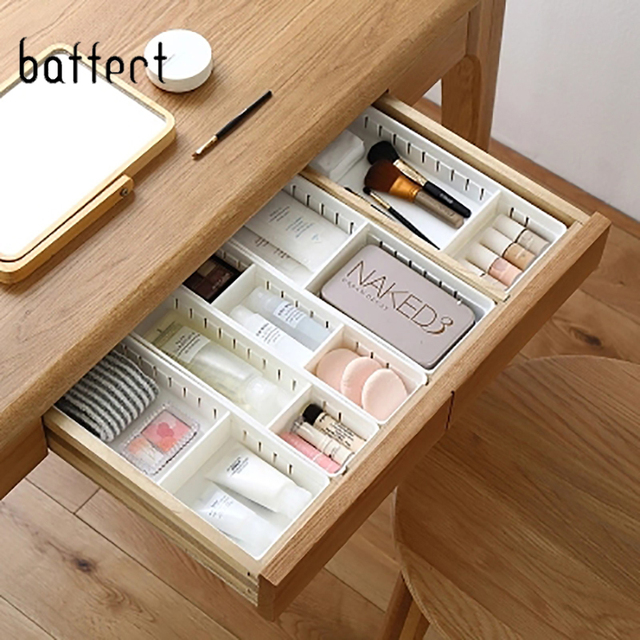 Organizer Kotak Nampan Rumah Kantor Penyimpanan Dapur Kamar Mandi Lemari Meja Kotak Laci Organisasi Baki Peralatan Makan Kosmetik Stationery