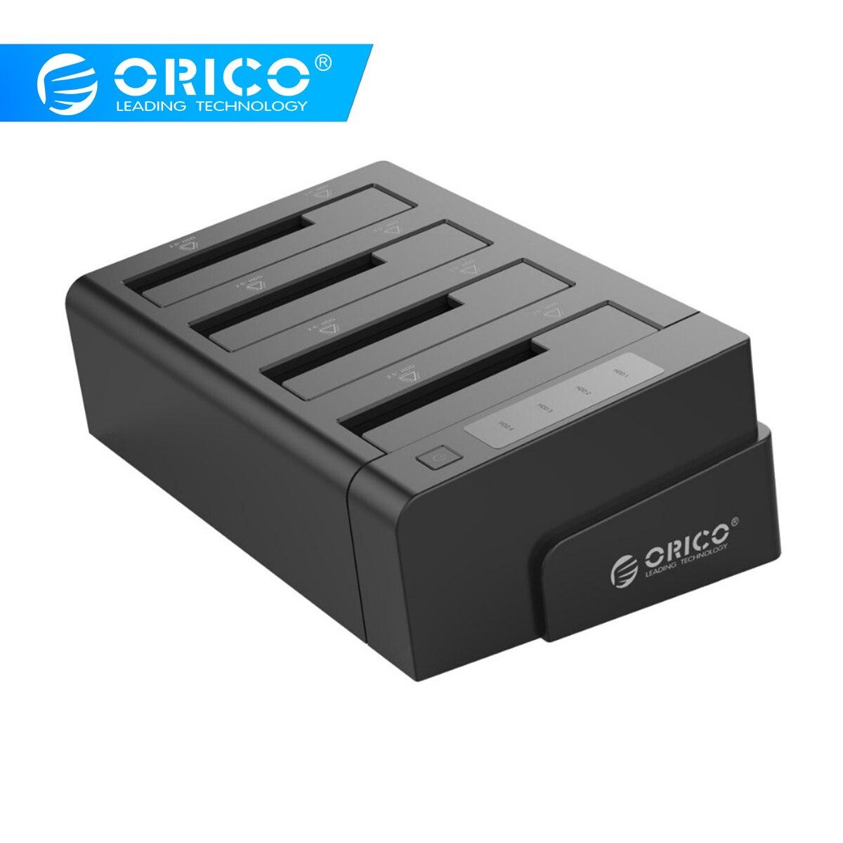 2.5 3.5 pouces USB 3.0 à SATA disque dur Station d'accueil/duplicateur Support MAX 32 to avec adaptateur d'alimentation 12V6. 5A (ORICO 6648US3-C)