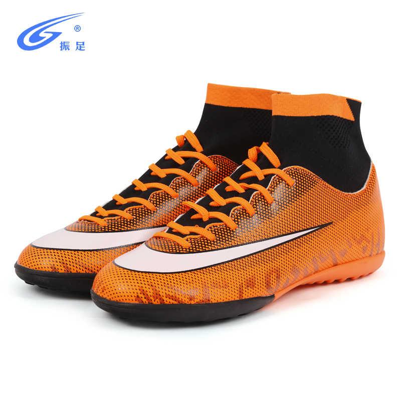 b00d05145 ... ZHENZU Turf Indoor High Top Adult Rubber Sole Soccer Shoes Men Boy  Futzalki Centipede Children Boots ...
