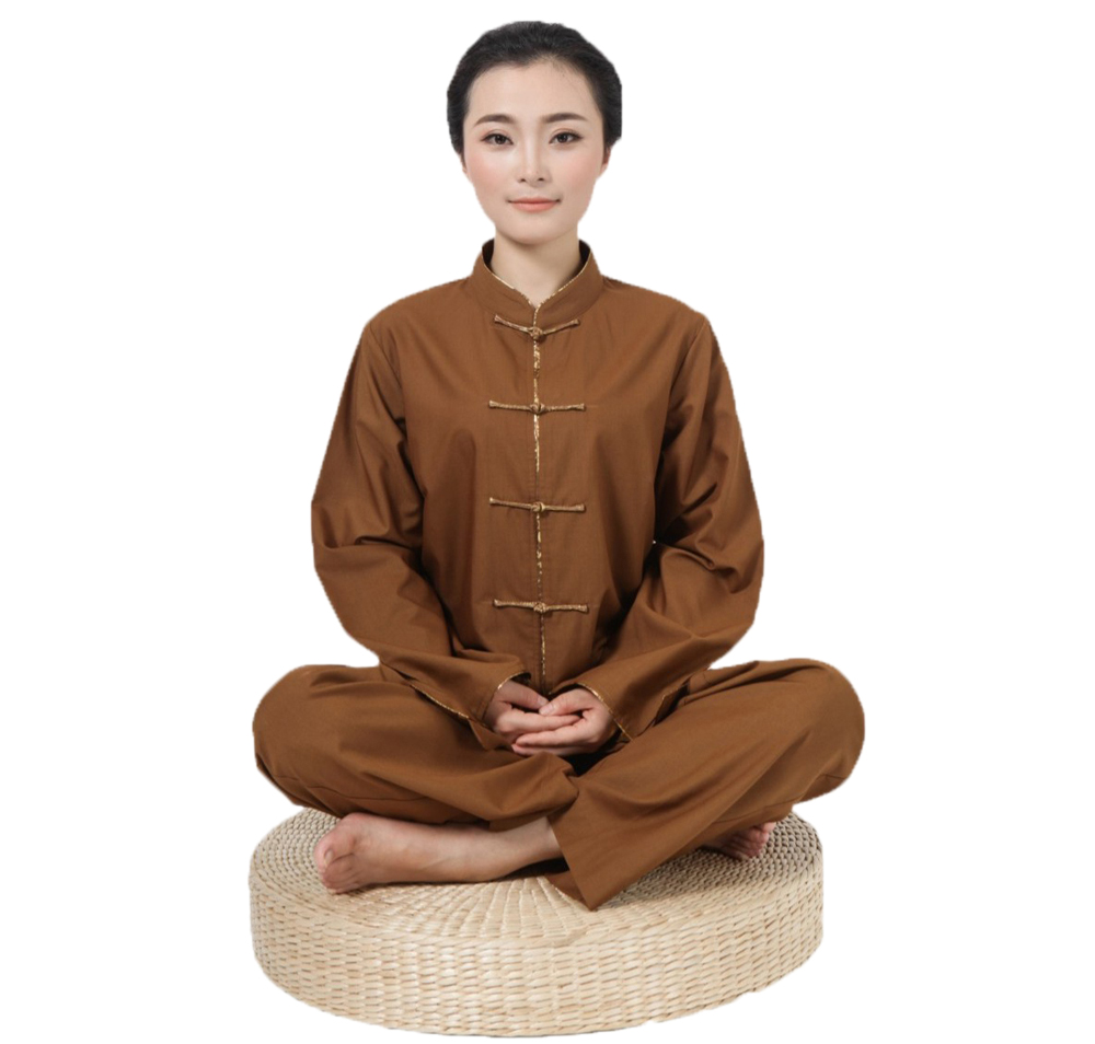 2017 New Top Quality Ladies Meditation Costume Spring Autumn Long Sleeve Lay Suits Kung  ...
