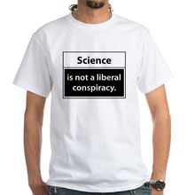 Crazy T Shirts Short Men Science Is Not A Liberal Conspiracy White O-Neck Office Tee