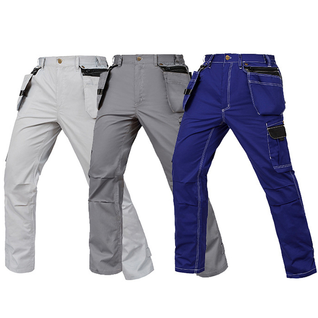 Working Pants Summer Thin Style Multi-Pockets Work Trousers Plus Size Wear-Resistance Factory Worker Mechanic Cargo Pants 3color 4