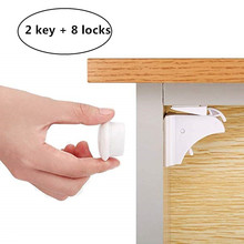 Magnetic Child Lock 8 Locks Baby Safety Baby Protections Cabinet Door Lock Kids Drawer Locker Security Invisible Locks 10pc lot multifunctional telescopic adjustable safety lock the door safety lock drawer locker toilet locker